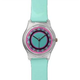 Beautiful mandala print wristwatch