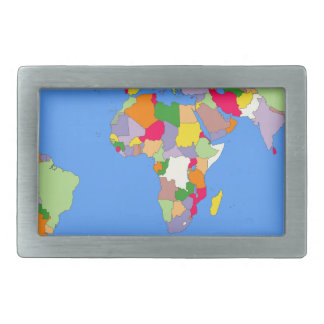 Beautiful Map of the World Belt Buckle