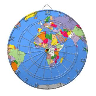 Beautiful Map of the World Dart Board