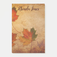 Beautiful Maple Leaves Post-it Notes