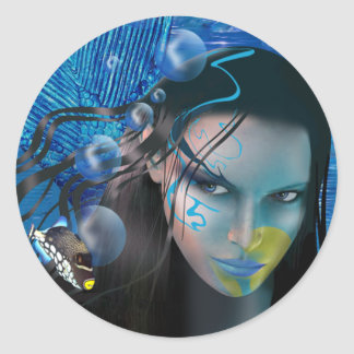 Beautiful Mara Fine Art Sticker