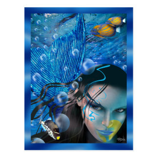 Beautiful Mara Mermaid Postcards