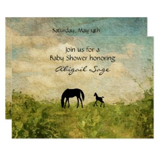 Everything horse and pony beautiful mare and foal horse baby shower invite filmwisefo