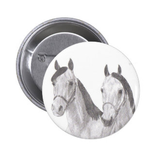 Beautiful Mares Horse Drawings Button