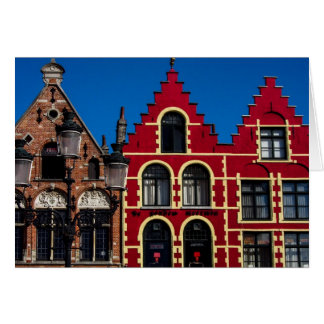 Beautiful Markt Square of Bruges Greeting Card