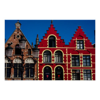 Beautiful Markt Square of Bruges Poster