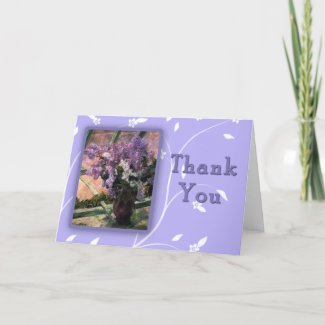 Beautiful Mary Cassat Lilacs Thank You Cards card