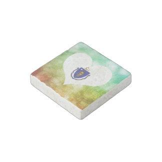 Beautiful Massachusettsan Stone Magnet