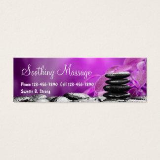Beautiful Massage Mini Business Cards