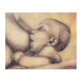 Beautiful Maternity - Nursing Gaze wood art