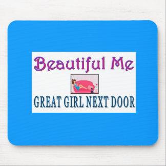 """""""Beautiful Me"""" Great Girl Next Door Mouse Pad"""