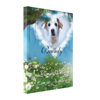 Beautiful Meadow Add Your Pet Photo Memorial Canvas Print