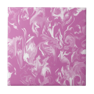 Beautiful medium pink and white -T- Tile