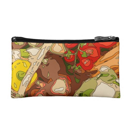 Beautiful Medley of Organic Fruits and Vegetables Cosmetic Bag