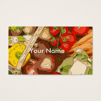 Beautiful Medley of Organic Fruits and Vegetables Business Card