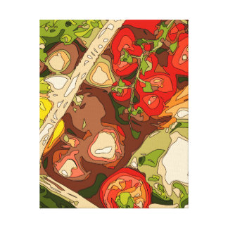 Beautiful Medley of Organic Fruits and Vegetables Stretched Canvas Prints