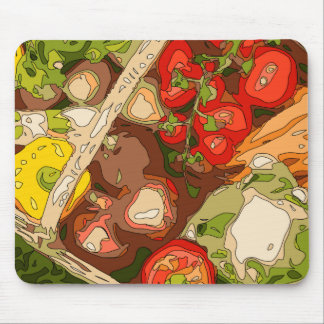 Beautiful Medley of Organic Fruits and Vegetables Mouse Pad