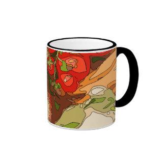 Beautiful Medley of Organic Fruits and Vegetables Ringer Mug