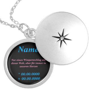 Beautiful memory chain round locket necklace