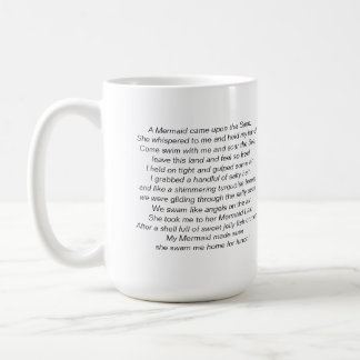 Beautiful Mermaid and Mermaid Poem on a Mug