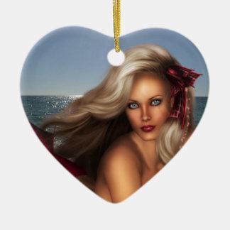 Beautiful Mermaid Ceramic Ornament