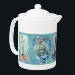 """Beautiful Mermaid Teapot<br><div class=""""desc"""">© Molly Harrison  www.mollyharrisonart.com.</div>"""