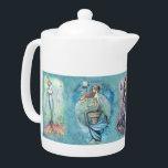 """Beautiful Mermaid Teapot<br><div class=""""desc"""">&#169; Molly Harrison  www.mollyharrisonart.com.</div>"""