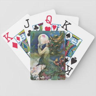 Beautiful Mermaid Underwater Vintage Art Bicycle Playing Cards