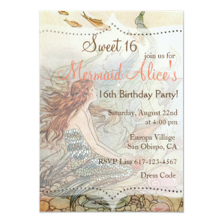 Under The Sea Sweet 16 Invitations Announcements Zazzle