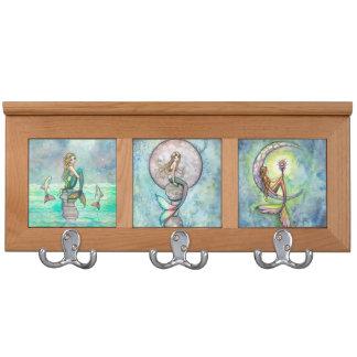 Beautiful Mermaids Fantasy Art Coat Rack