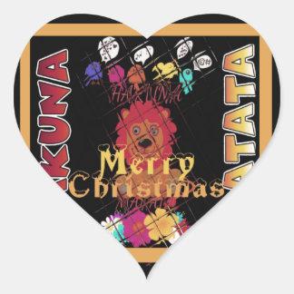 Beautiful Merry Christmas Hakuna Matata Latest Art Heart Sticker
