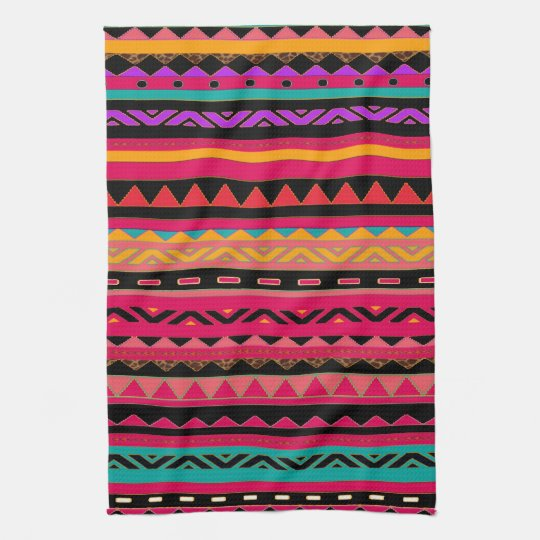 Beautiful Mexican Aztec Colorful Pattern Towel Zazzle Com