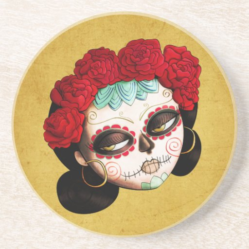 Beautiful Mexican Catrina Drink Coaster