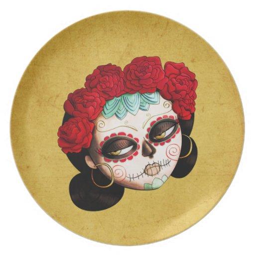 Beautiful Mexican Catrina Plate