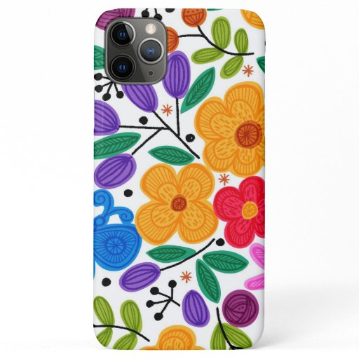 Beautiful Mexican Floral iPhone 11 Pro Max Case