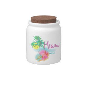 Beautiful Miami Florida Candy Jar