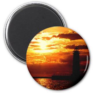Beautiful Michigan Sunset! 2 Inch Round Magnet