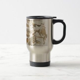 Beautiful microfossils photo pattern travel mug