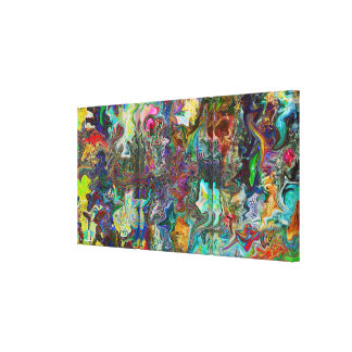 Beautiful Mind - Abstract Digital Art Stretched Canvas Print