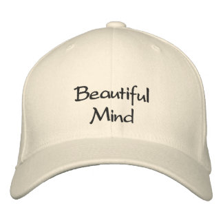Beautiful Mind  Embroidered Cap / Hat