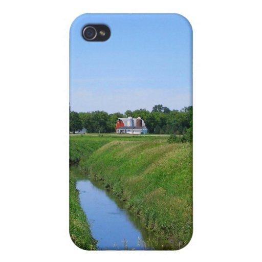 Beautiful Minnesota farm photo irrigation ditch iPhone 4 Case