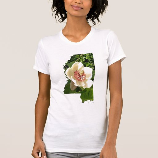 Beautiful Mississippi Shirt with Magnolia Flower
