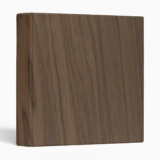Beautiful Mocha Brown Wood Texture Vinyl Binder