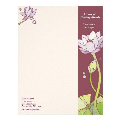 Beautiful, Mod Asian Lotus Business Letterheads Letterhead Design
