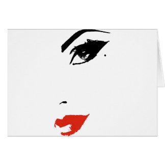 Beautiful Model Face Card
