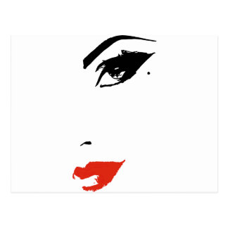 Beautiful Model Face Postcard
