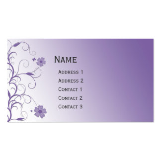 Beautiful modern floral design Double-Sided standard business cards (Pack of 100)