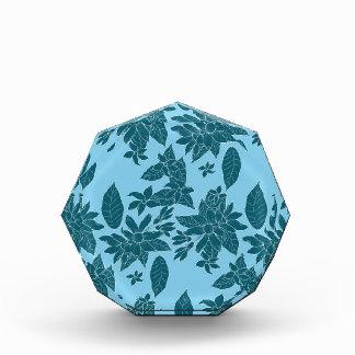 Beautiful modern floral line blue pattern acrylic award