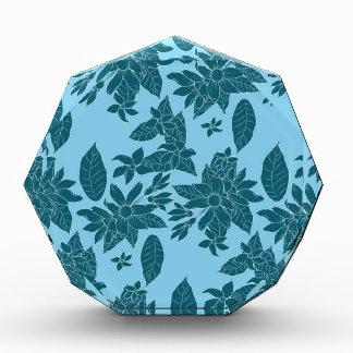 Beautiful modern floral line blue pattern award