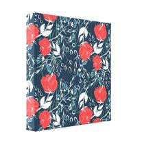 Beautiful modern floral pattern canvas print